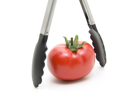 Grill tongs with tomato