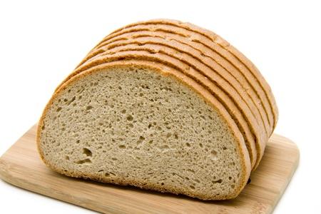 cutting edge: Wheat bread chopped on cutting edge board