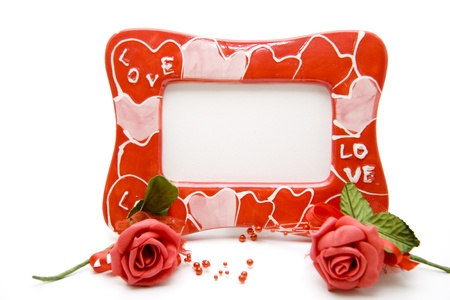 Picture frames with roses photo