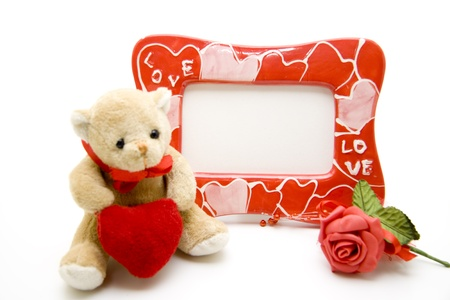 Picture frames with plush bear  photo