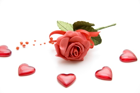 Heart with rose photo
