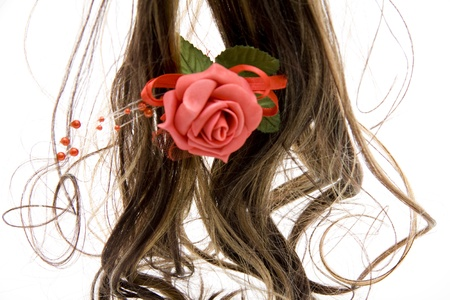 hairpiece: Hairpiece with rose