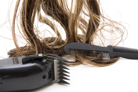 Electric clippers with neck and hair