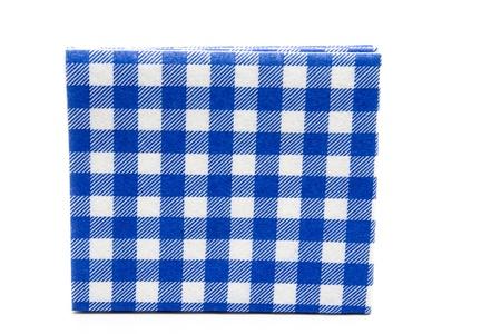 Blue white checked napkin