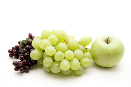 Wine grapes with apple Stock Photo