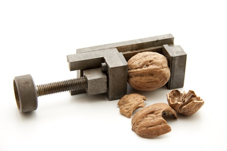 Vice with walnut