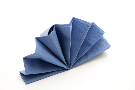 Blue napkin Stock Photo - 11374000