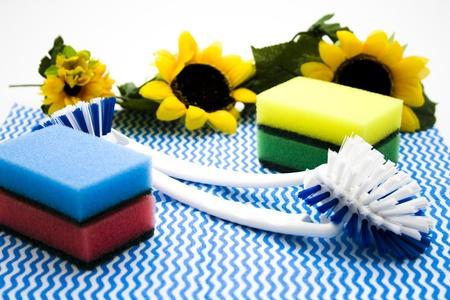 rinsing: Pot cleaner with rinsing brush