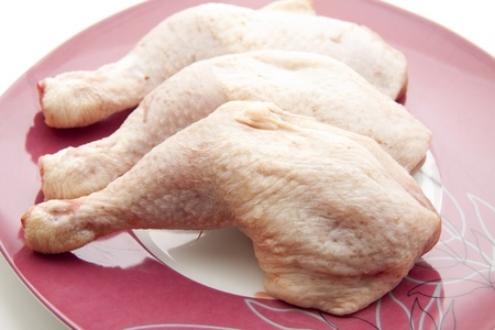 Raw chickens thigh  photo