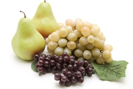 uvas vino: Uvas de vino con peras Foto de archivo