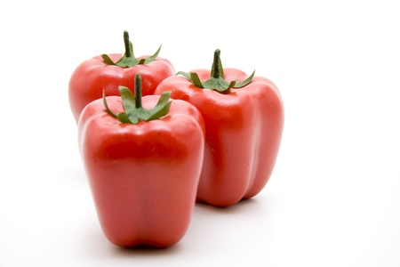 artificially: Red paprikas