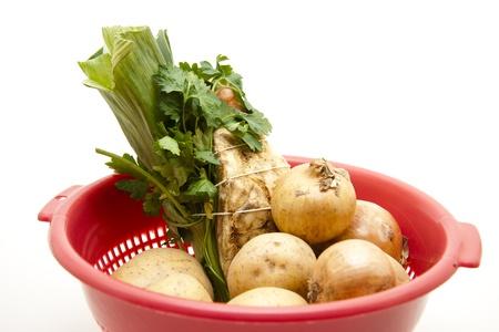Potato and onion photo