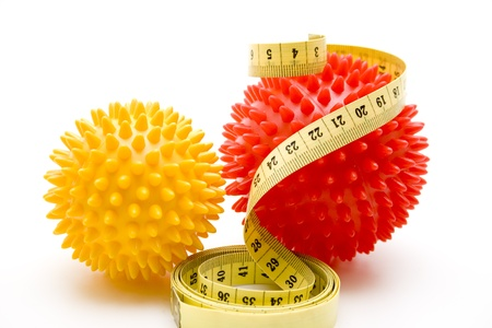 stretchy: Massage ball with measuring tape