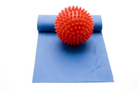 stretchy: Massage ball on rubber