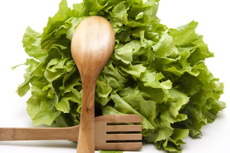 endive: Endive salad with wooden cutlery