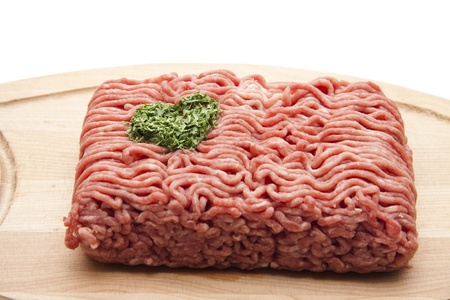 Raw mince with parsley