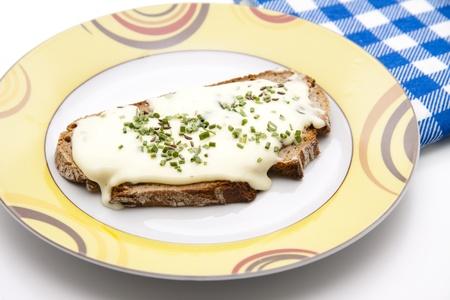 Kochen mit Käse Serviette