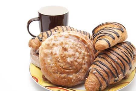 cafe y pastel: Caf� torta Foto de archivo