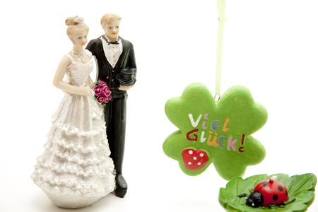 Bride pair and lot luck Stock Photo - 11993104