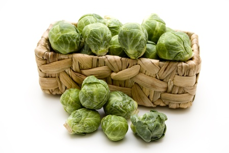 brussels sprouts:   Brussels sprouts in a basket