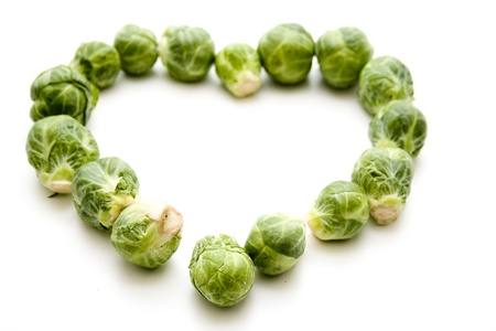 Brussels sprouts in heart form