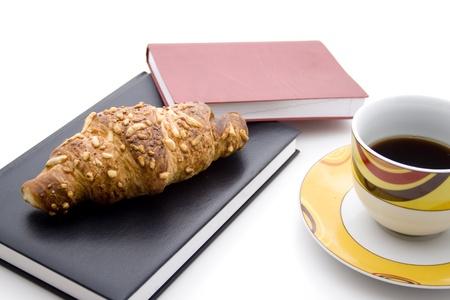 cafe y pastel: Taza de caf� con pastel de caf�