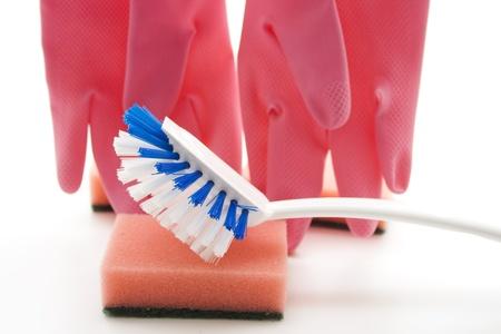 rinsing:  Rinsing brush on sponge