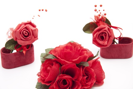 artificially: Roses with holder