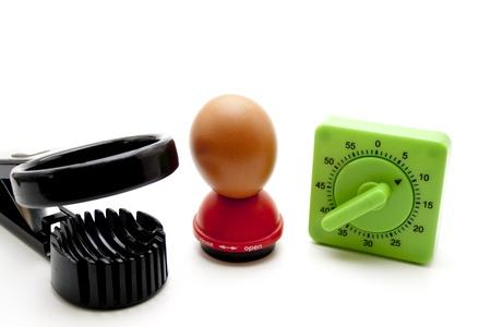 slicer: Egg timer with egg and egg slicer