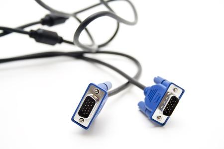 vga: VGA cable del monitor Foto de archivo