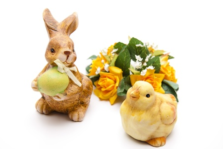 artificially: Easter bunnies with chick