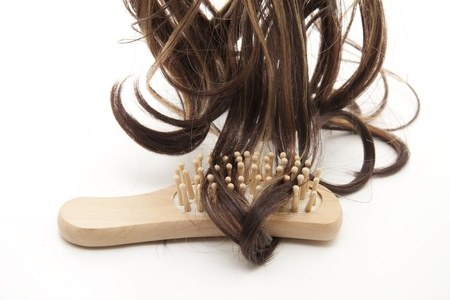 wig: Hair lock with hairbrush