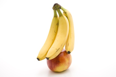 calories poor: Bananas with nectarine    Stock Photo