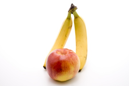 nectarine: Bananas with nectarine    Stock Photo