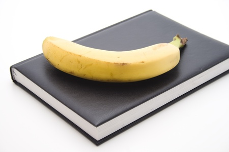 calories poor: Bananas with notebook