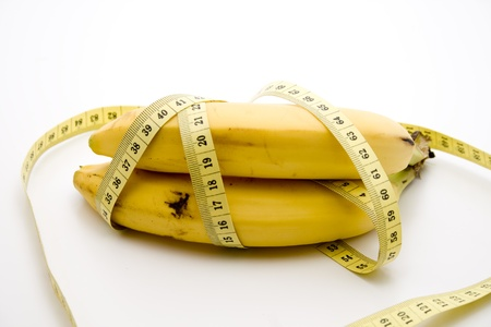 calories poor: Bananas with dimension tape