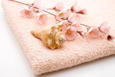 artificially: Hand cloth with flower branch