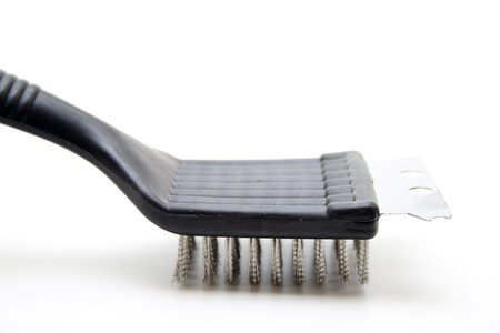 bristles: Grill brush with metal bristles