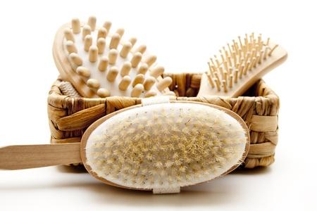 Backs and massage brush Stock Photo - 12522216