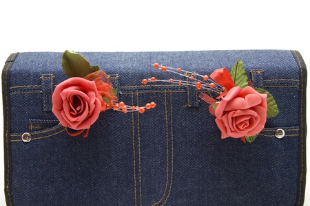 artificially: Jeans bag with rose