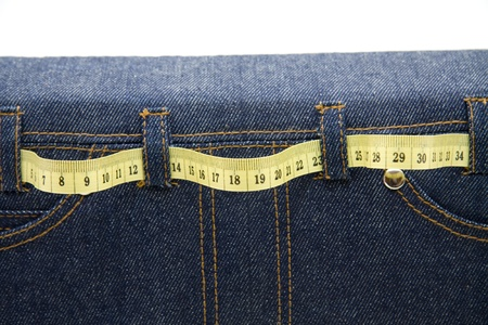 dimension: Jeans bag with dimension tape