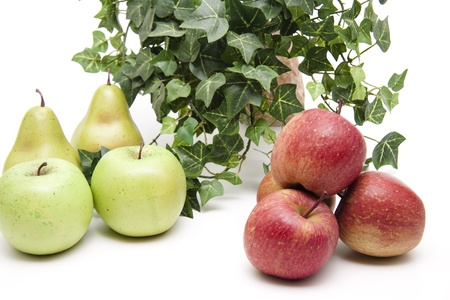 Apples and pears Stock Photo - 12522548