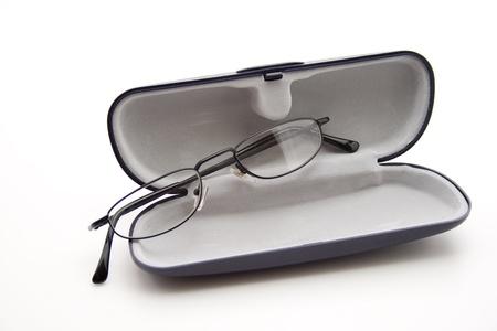 gafas de lectura: Espect�culo caso de los anteojos para leer Foto de archivo