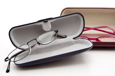 spectacle: Spectacle case with reading glasses