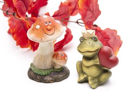 autumnally: Stone mushroom with frog