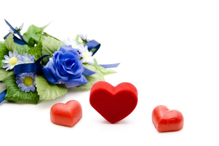 love proof: Heart and marzipan heart