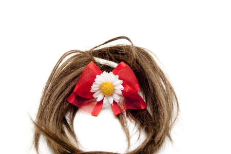hairpiece: Brown hairpiece with loop Stock Photo