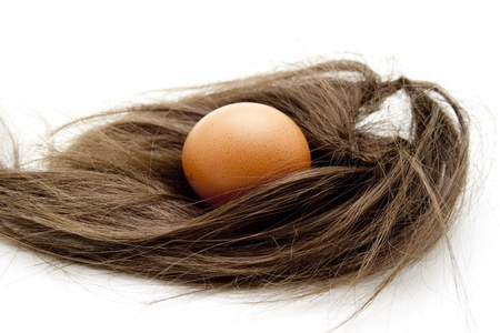 hairpiece: Hairpiece with egg well for brightness