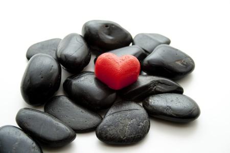 Dear symbol on black stones
