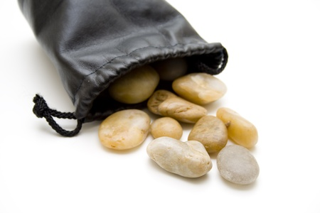 flatly: Stones in leather bag